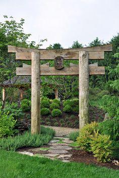 Garden arbors trellis gazibos on pinterest grape - Japanese garden gates ideas ...