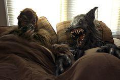 Two Werewolves in bed having coffee by shutterwolf-or on deviantART