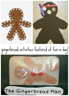 Gingerbread Activities for Kids from Fun-a-Day activities for kids