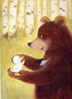 animals, baby ducks, autumn leaves, bears, art, lee jiyeon, dens, new friends, bear club