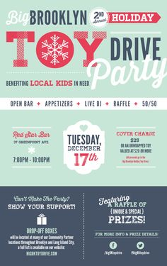 2nd Annual Big Brooklyn Holiday Toy Drive by McMillian + Furlow , via Behance