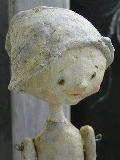 Sculpted Vintage Style Paper Mache Folk Art by pearlavenuestudios,