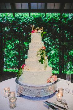 five-tiered wedding cake, photo by Teale Photography http://ruffledblog.com/elegant-rainy-day-wedding #weddingcake #cakes