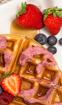 Berry-Infused Waffles