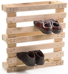 Shoes are always a problem around the house! One more idea for a shoe rack.