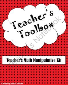 Teachers Toolbox: Base Ten  Counters Math Manipulatives from Educ8Cre8ively on TeachersNotebook.com -  (9 pages)  - A teacher's toolbox complete with large base ten blocks and counters for easy viewing by your students.  Simply laminate, affix a magnet to the back, and display on your whiteboard!