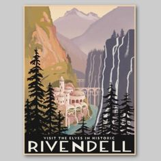 Rivendell from The Hobbit.  Would love to go there!