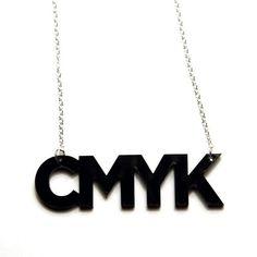 CMYK color profile acrylic necklace