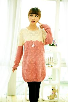 Ladylike Bow Pattern Colormatching Long Sleeves Plus Size Sweaters For Women (GREEN,ONE SIZE) China Wholesale - Sammydress.com