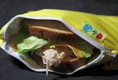 Reusable insulated sandwich Bag ZIPPIT eco by LoveForEarth on Etsy, $9.60