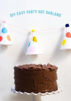 Confetti Sunshine: DIY Party Hat Garland