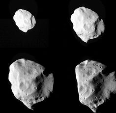 """Asteroid Lutetia shot by the comet chaser, Rosetta. (Photograph: Esa/APN) Mona Evans, """"Rosetta the Comet Chaser"""" http://www.bellaonline.com/articles/art182574.asp"""