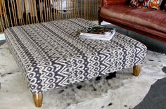 Upholstered Ottoman Coffee Table1