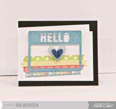 Hello card by Jen Jockisch at Studio Calico