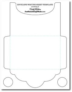 Template for envelope