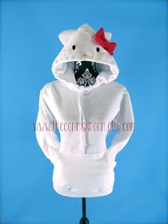 Hello Kitty Inspired Handmade Adult Hooded by TheCommonRoom, $48.99