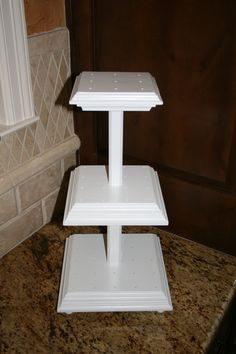 3Tier Cake Pop Stand.... Never thought of making my own cakestands or cakepop stands till I seen this!!!