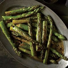 Roasted Asparagus with Balsamic Browned Butter | MyRecipes.com