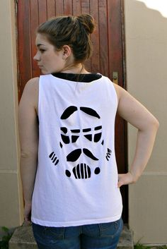 DIY Stormtrooper Cut Out Shirt