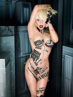 David LaChapelle photographing Lady Gaga
