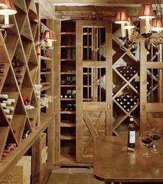 Douglas VanderHorn. Wine room. Cellar.