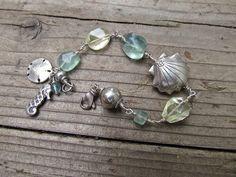 #Handmade Silver Seashell Bracelet