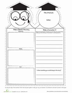 Third Grade Reading Comprehension Worksheets: Cool Bookmarks 4 Worksheet