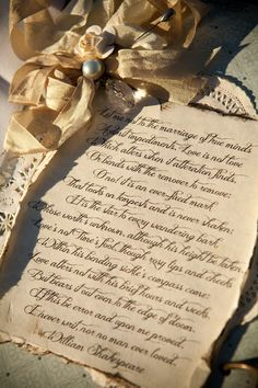 Our #ShabbyChic #Vintage Style #Wedding #Guestbook with #Shakespeare #Sonnet by #Etsy Shop: ShabbyScrap