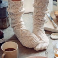 Winter nights with hot chocolate and cozy socks!