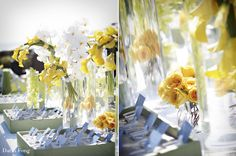 card display, yellow weddings, centerpiec, escort table, card tabl, escort card, beach weddings, tabl decor, flower