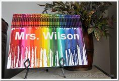 personalized crayon art