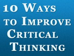 increase critical thinking