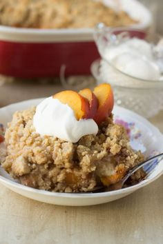 Everyone loves fresh #peachcobbler, but turn it into #breakfast-! Seriously, it's the perfect way to start out the school year!