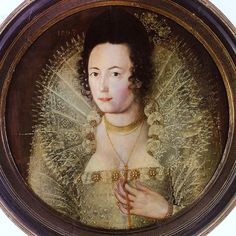 1597 Unknown Lady painted by an artist in the circle of Robert Peak.