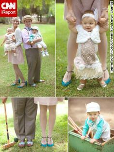 Layla Grayce co-owner Tiffany Harris and her husband Tom hosted a 1920s-themed party for their year-old twins in 2012. The family took the dress code seriously, with custom-made outfits that complemented the party theme and color scheme. @Tiffany Grayce Harris #laylagrayce #CNN #entertaining