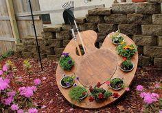 painters palette planter