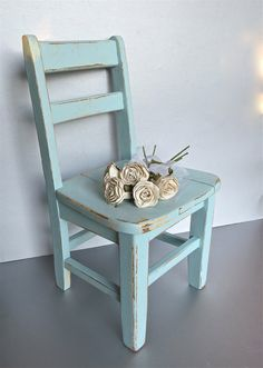 Vintage blue Child's Chair,