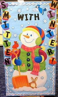 "Winter Bulletin Board Idea.  ""Smitten"" with ""Cool"" Books!"