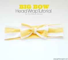 Big Bow Head Wrap Tutorial - The Ribbon Retreat Blog