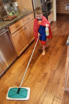 Chores without bribery sorted by ages (1-2, 3-4, etc. Cleaning promotes independence, responsibility, and a positive self esteem by accomplishing task.