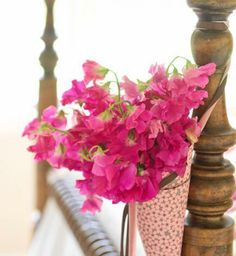 mothers day ideas, hang bouquet
