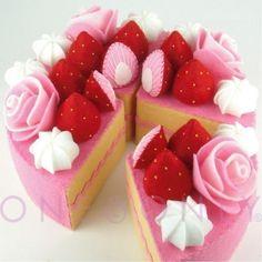 Felt Cake play food... Love ❥