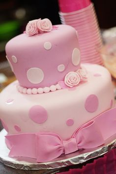 polka dots, pink cakes, girl cakes, cake recip, first birthdays, bridal showers, baby showers, kid cakes, birthday cakes