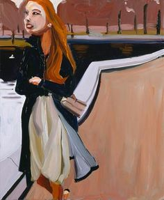 Chantal Joffe. Red-Haired Woman in the Park.