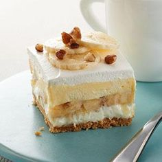"Banana Split ""Cake"" Recipe from our friends at Philadelphia Cream Cheese"