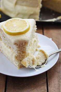 One Bowl Lemon Cake by cremedelacrumb #Cake #Lemon #Easy