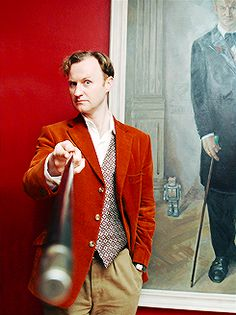 Mark Gatiss, thank God for his writing and acting, he is marvelous. I have all his books. I love him to pieces.