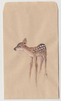 Devon Smith | Deer on a brown envelope