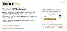 Big news from Amazon - an entire platform that gives! Amazon Smile will give .5% of purchases to the nonprofit of your choice when you purchase via this platform.