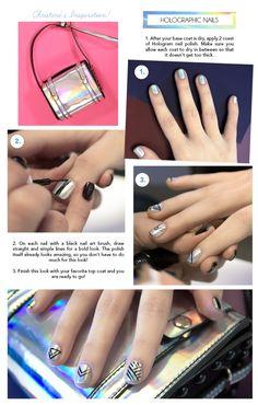 DIY Hologram Nails